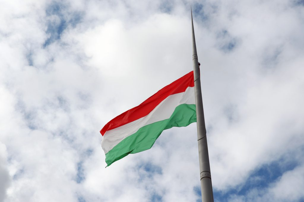 March 15 Hungary National flag hoisted Hungary flag