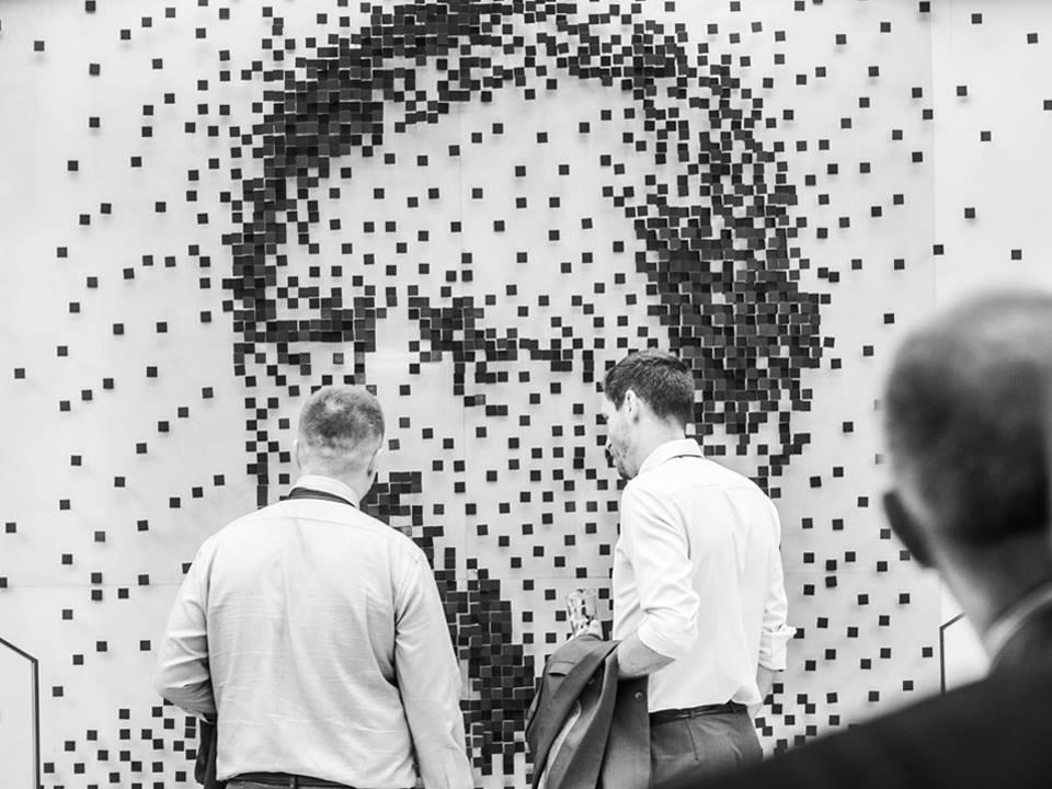 Miklós Ybl portrait at Terra exhibition room