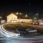 Monor, Hungary, town, railway, station, road