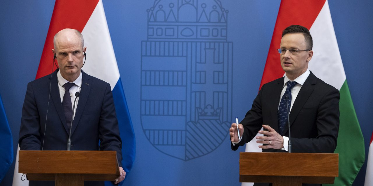 Hungarian foreign minister advocates 'mutual respect' in ties with Netherlands