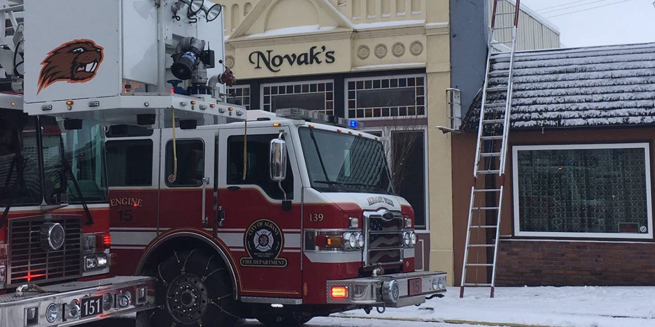 Hungarian restaurant on fire in the United States!