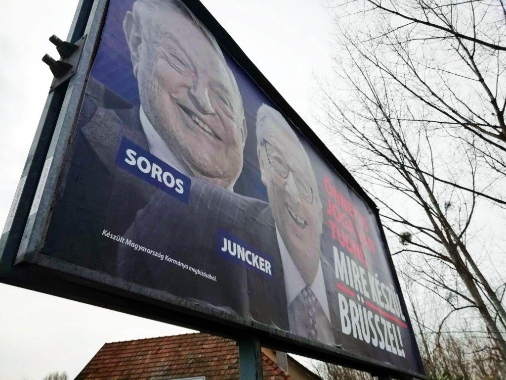 Soros Jucker billboard campaign Fidesz