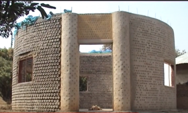African ingenuity – House made out of water bottles? – Video
