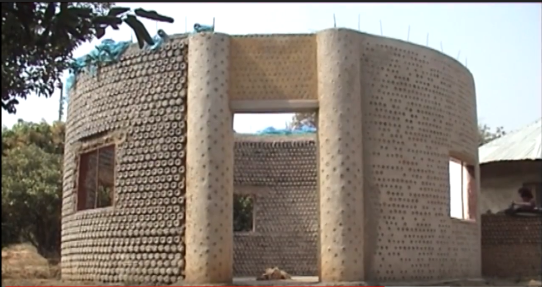 African Ingenuity  U2013 House Made Out Of Water Bottles   U2013 Video  U2013 Daily News Hungary