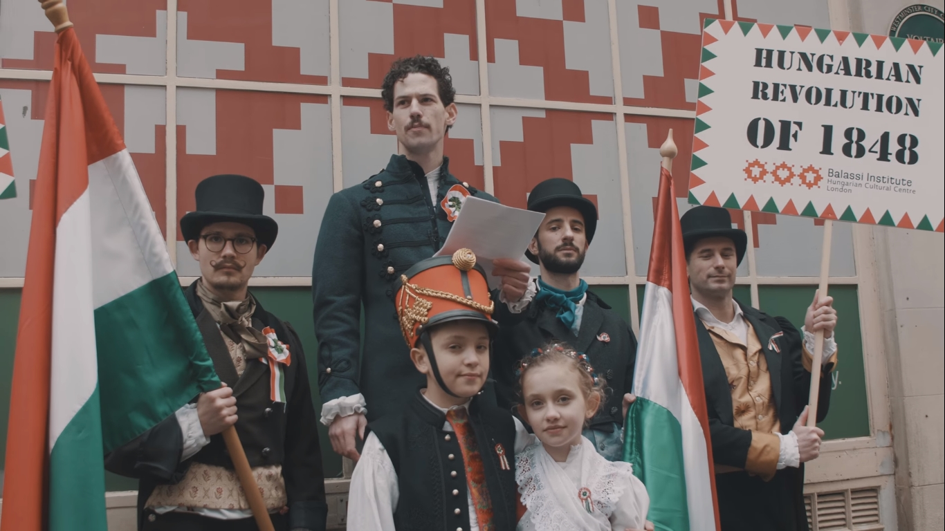 hungarian revolution 1848 flashmob london