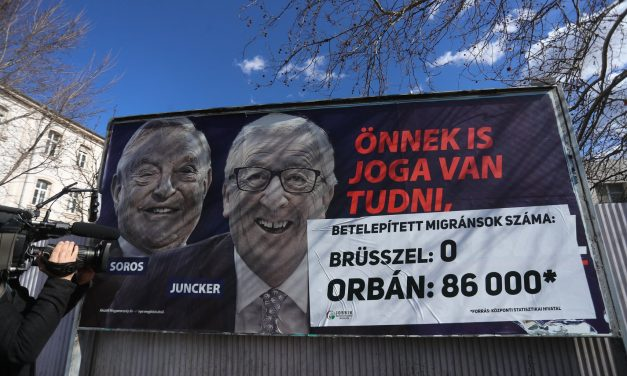 Jobbik to paste over government's Junker and Soros billboards
