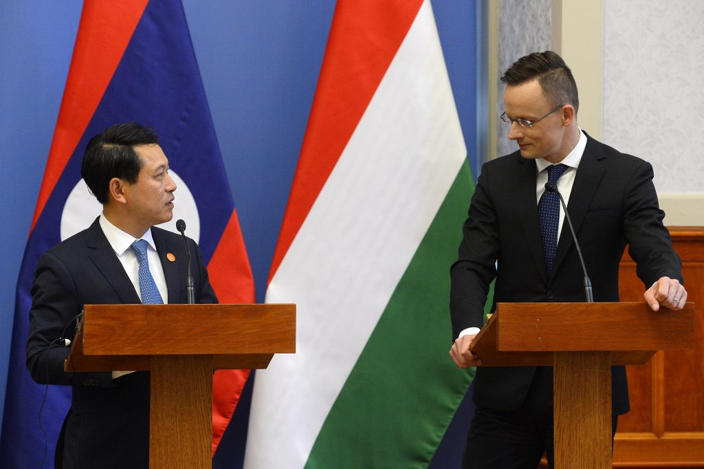 laos hungary foreign ministers
