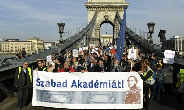 Academics demonstrate for research freedom in Budapest