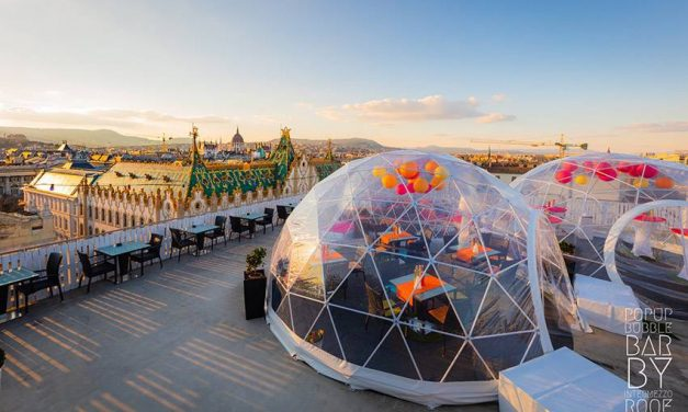 New bubble bar opens above Budapest