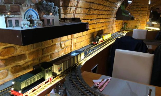 Chugging down your table: First model railway restaurant opens in Budapest