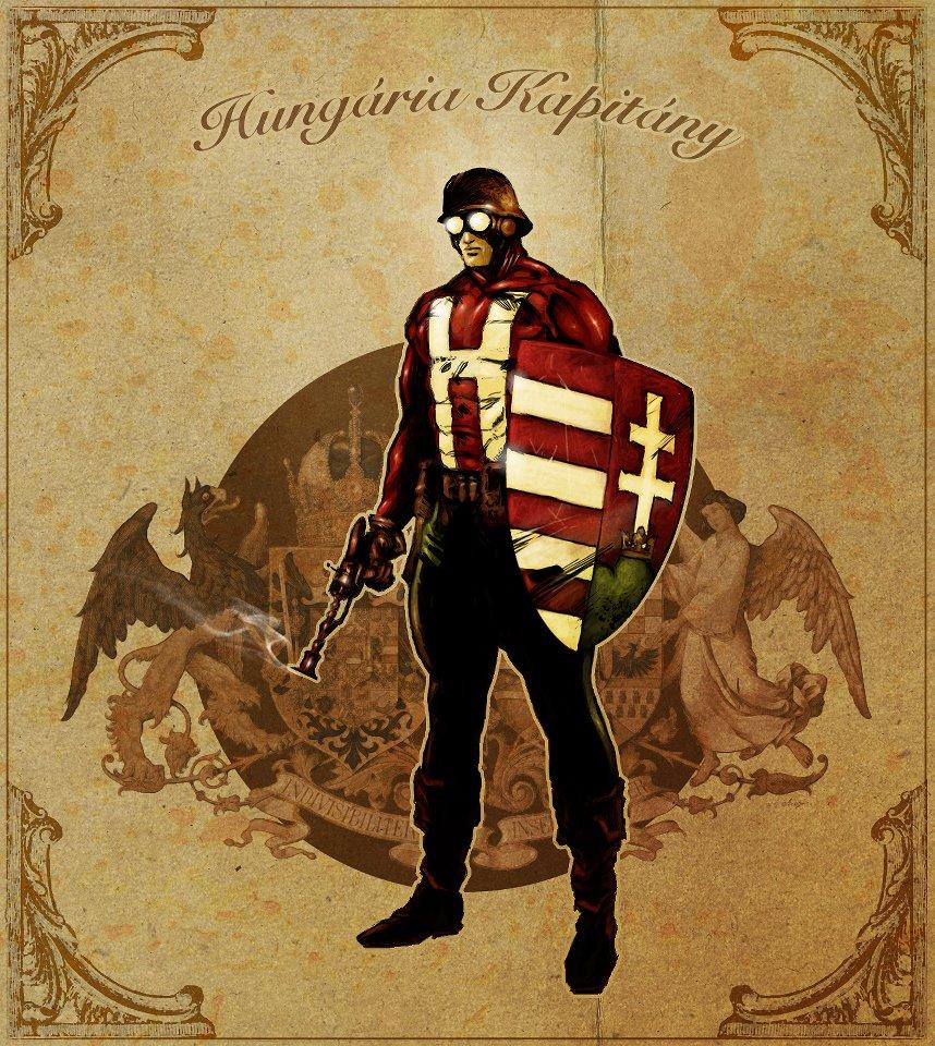 Captain Hungaria, superhero, Hungary