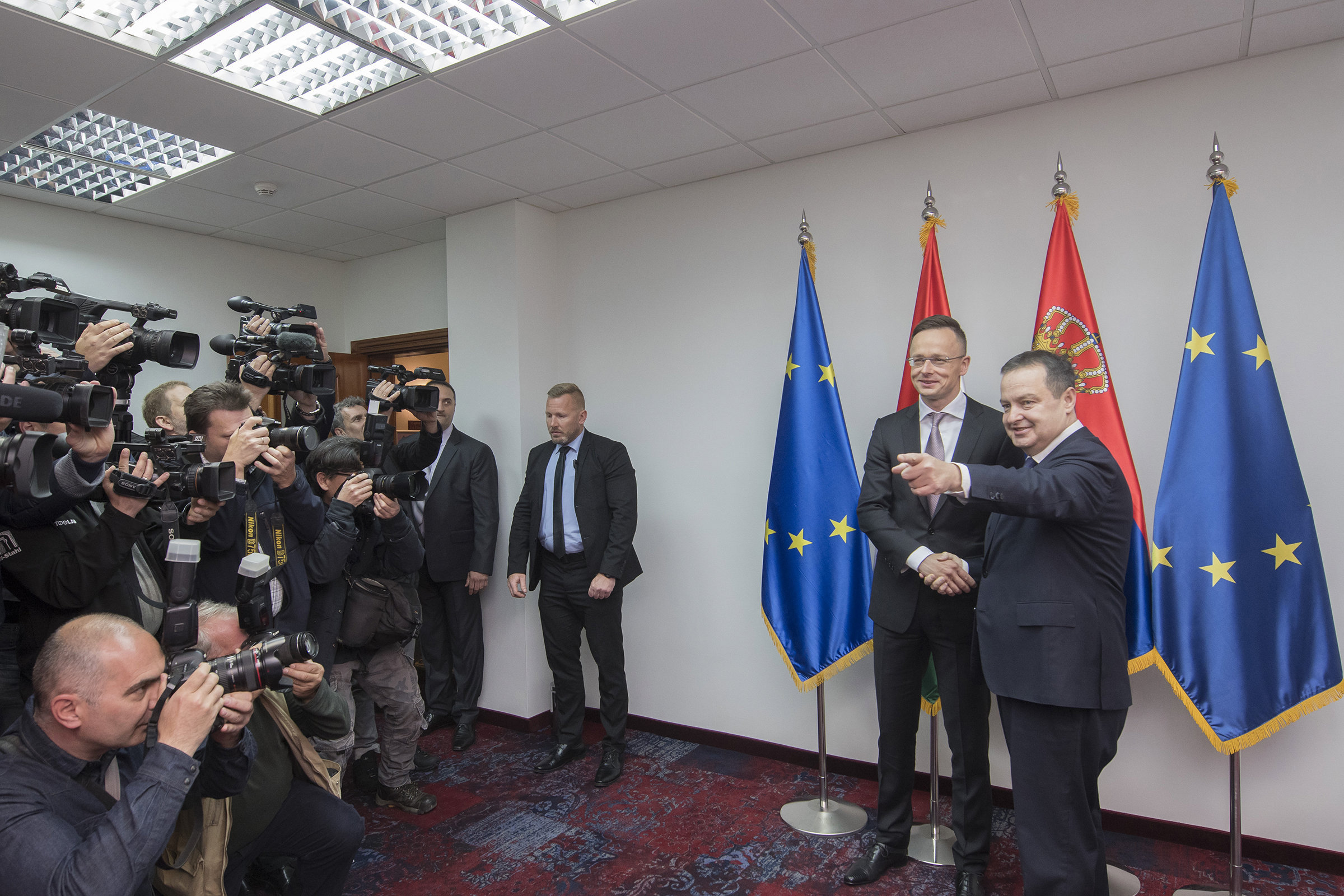 serbia hungary foreign ministers