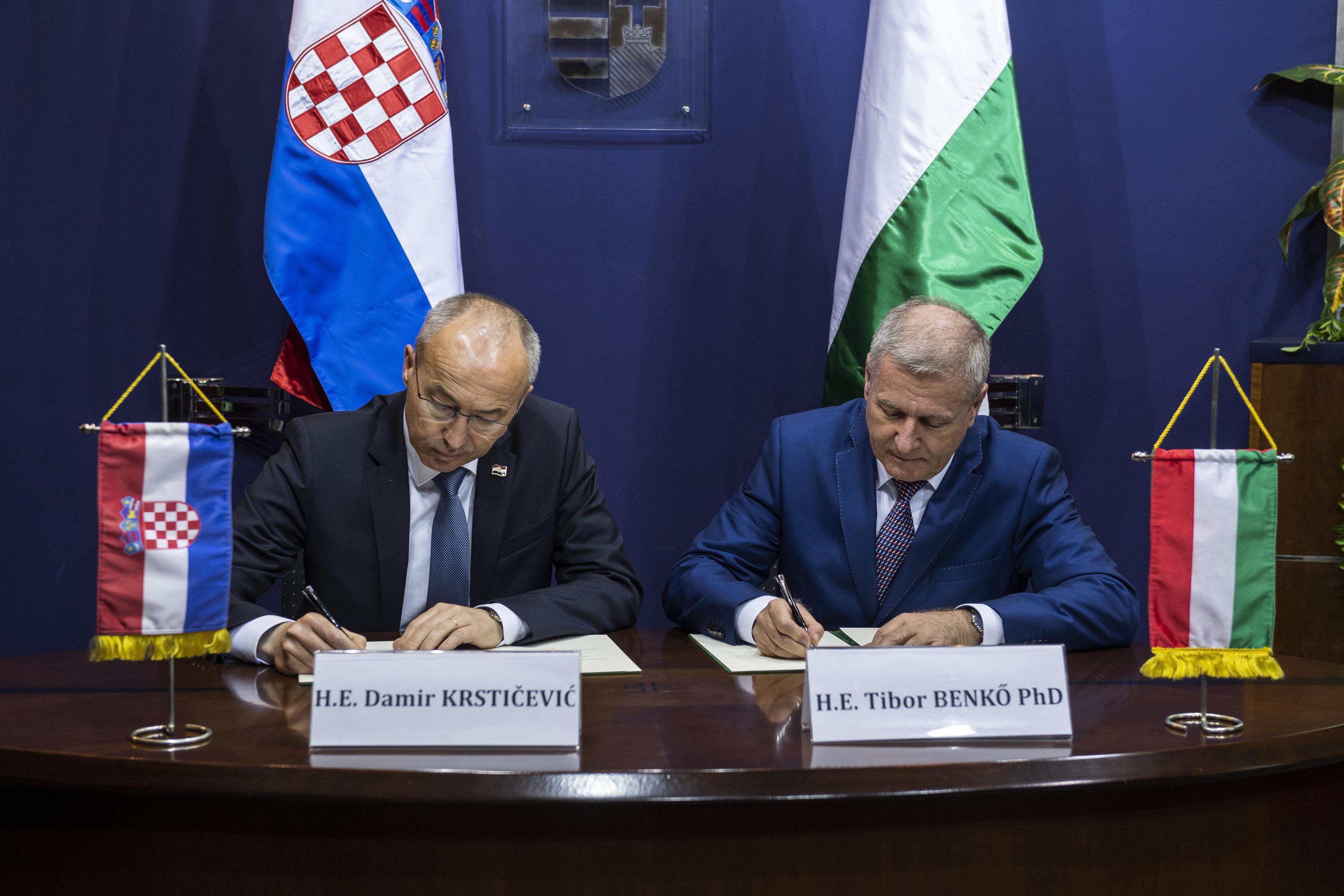 Croatia Hungary defence ministry