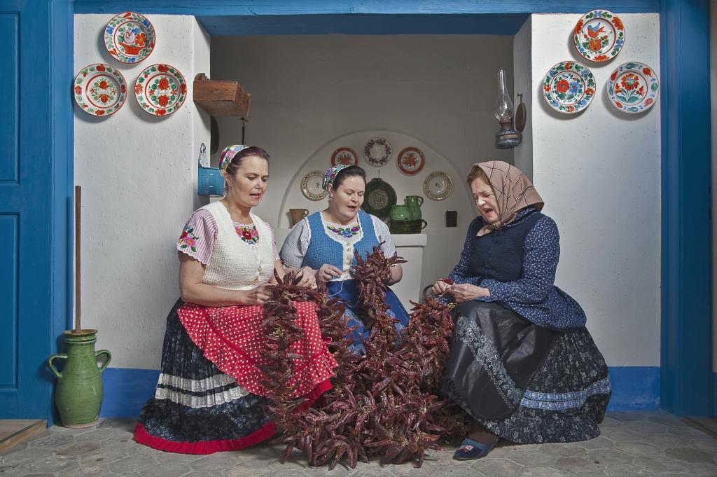 hungarikum kalocsa paprika singing folk costume hungary