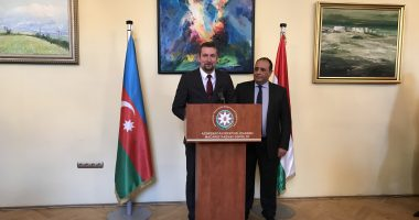 Deputy State Secretary Baranyi addresses diplomats at Azerbaijani Embassy's reception