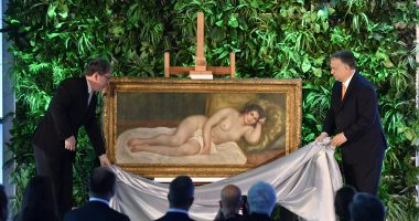 orbán Orban attends unveiling of newly purchased Renoir painting