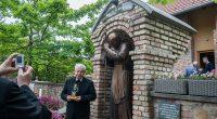 Pope John Paul II statue in Piliscsaba Hungary
