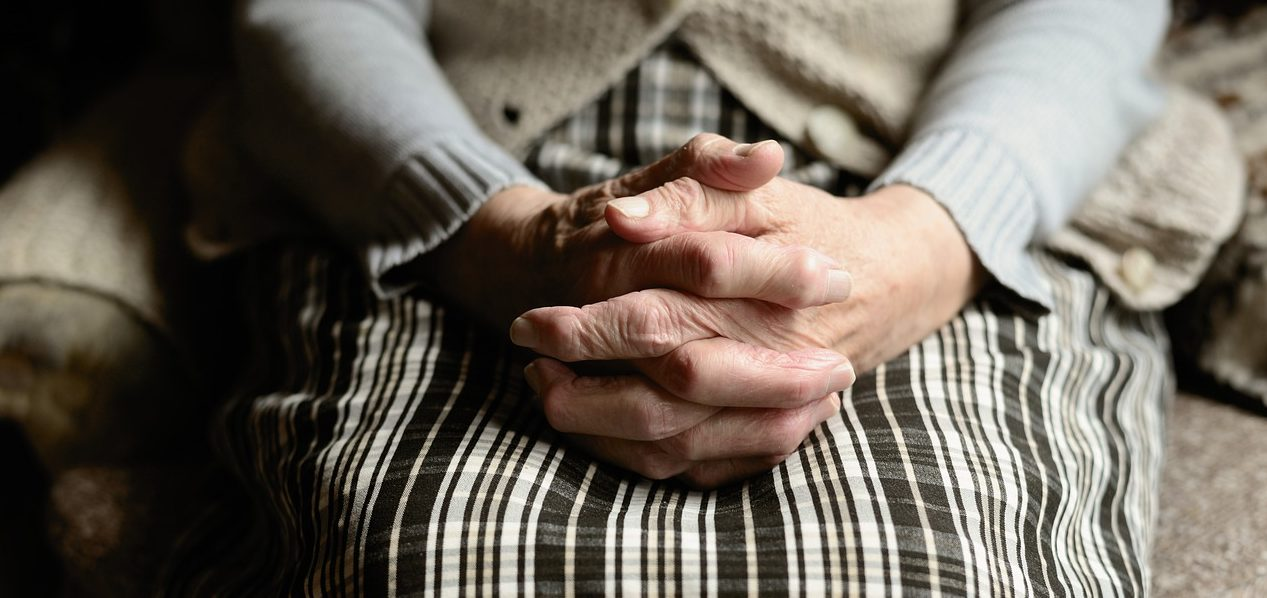 hands pension elderly pray