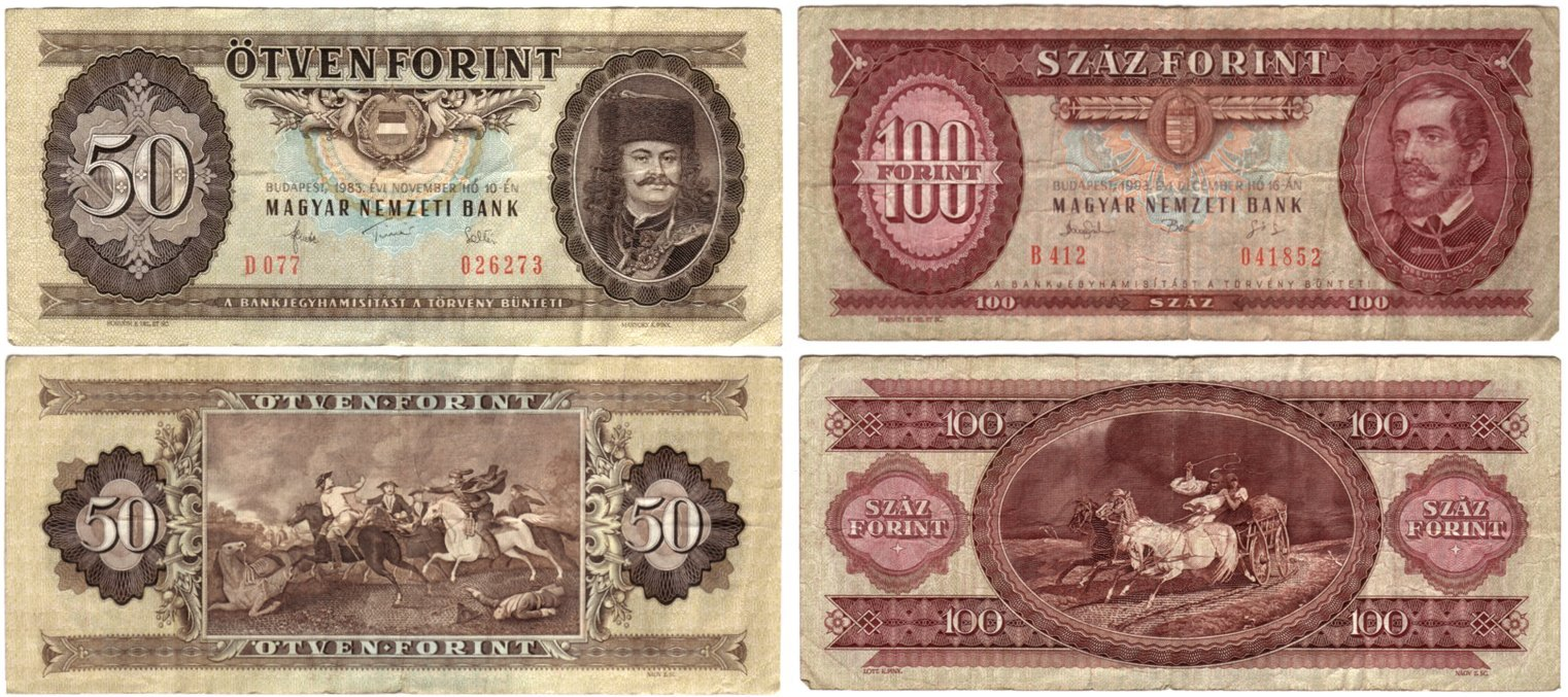 money, forint, old, Hungarian