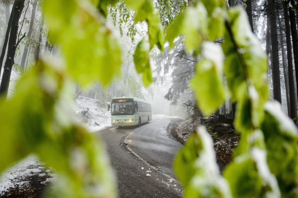 snowfall in hungary on may