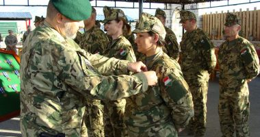Hungarian female officer, army