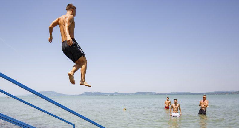 Lake Balaton Hungary summer
