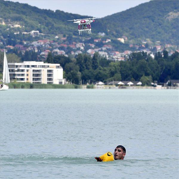 Hungary Balaton safety drone