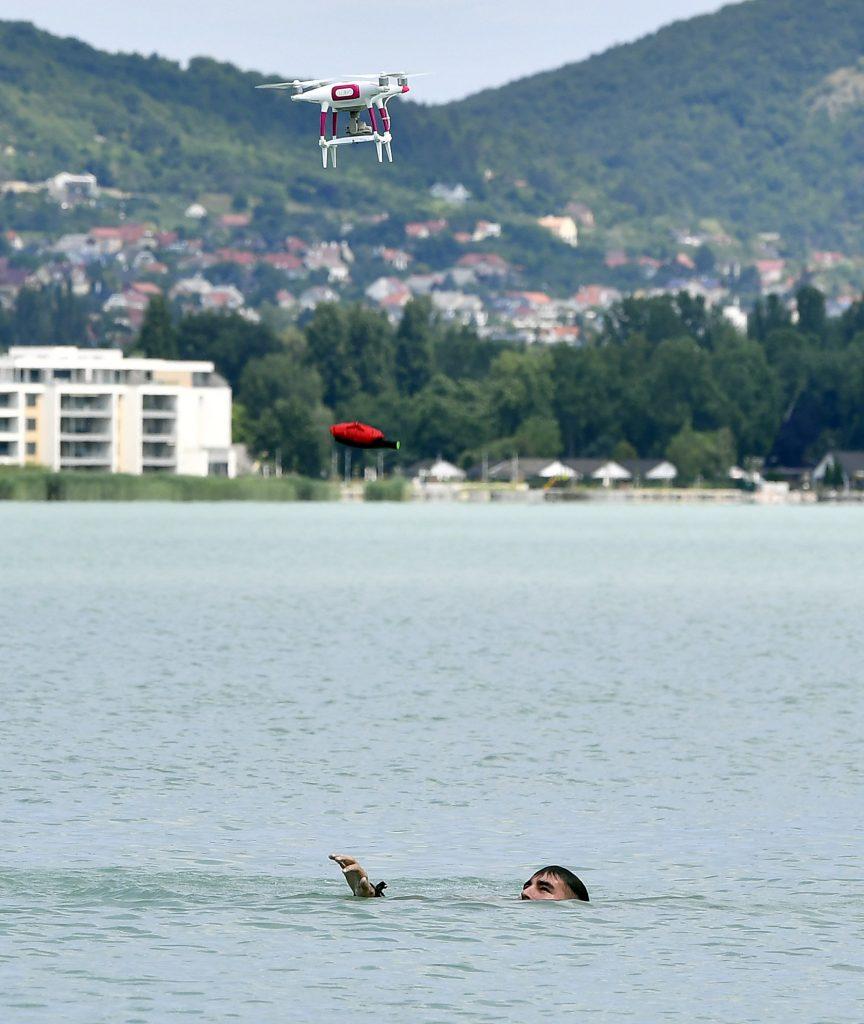 Hungary drone Balaton safety