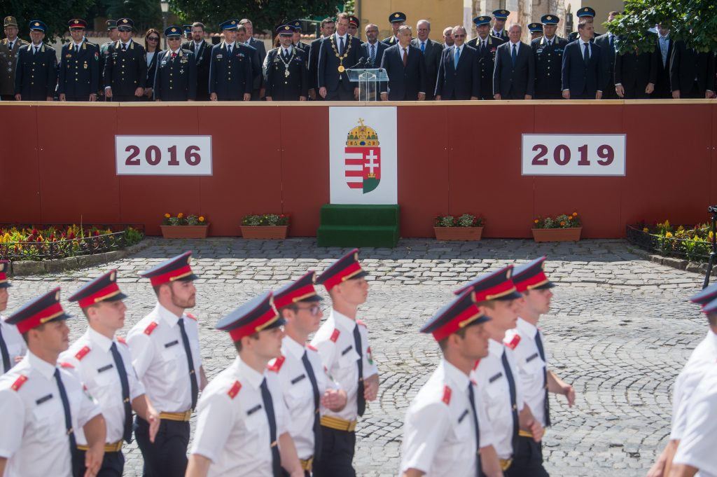 graduation ceremony of new officers at the National University of Public Service