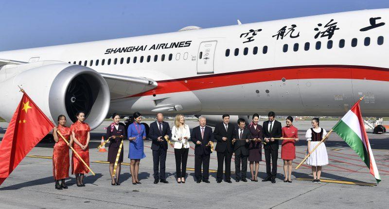 shaghai budapest flight