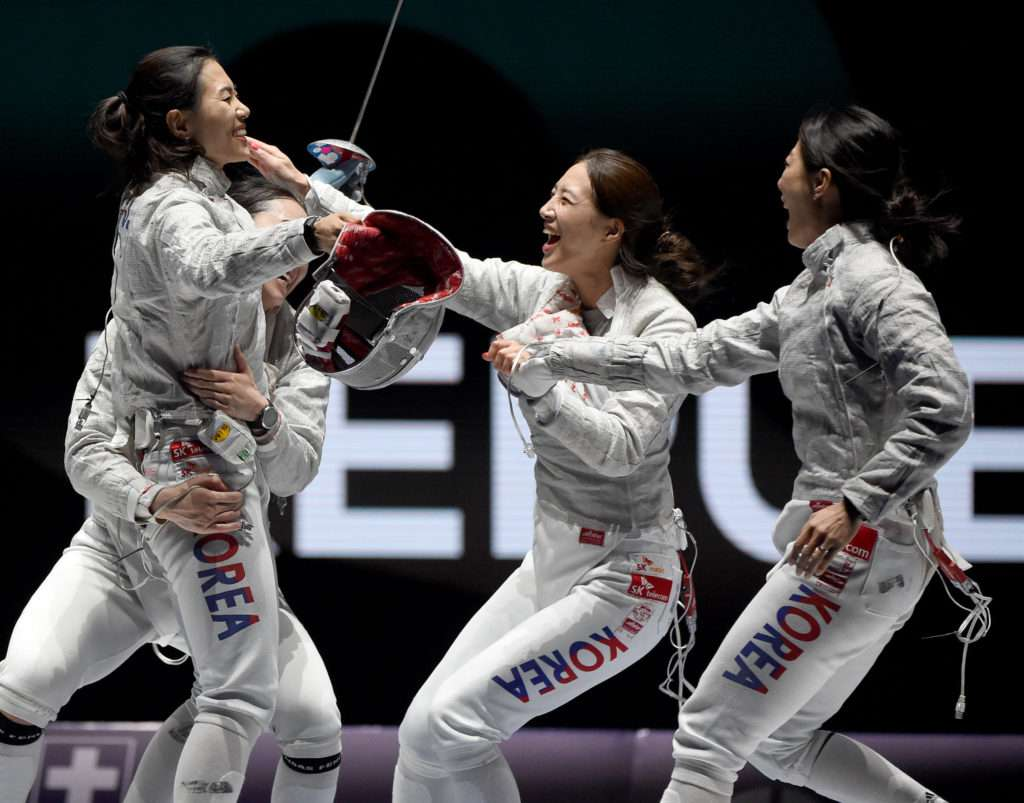 FIE World Fencing Championships in Budapest, Hungary.