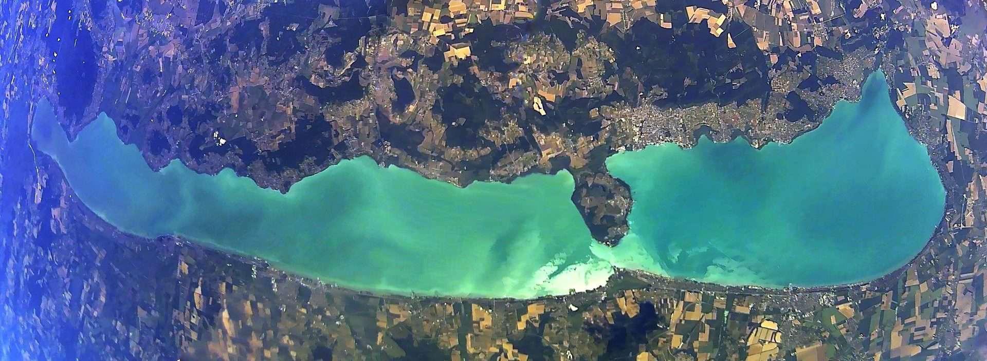 Lake Balaton from space