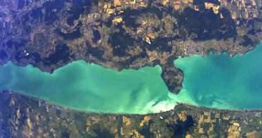Lake Balaton from space