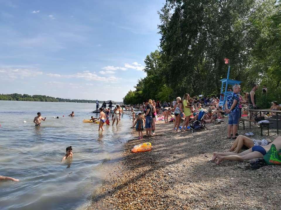 Hungary Budapest Danube beach summer