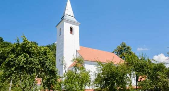 rebuilt church in Romania