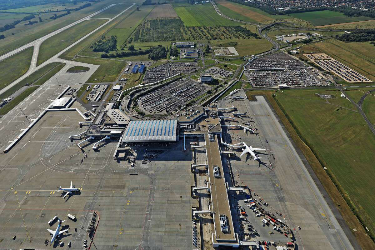 budapest airport from above