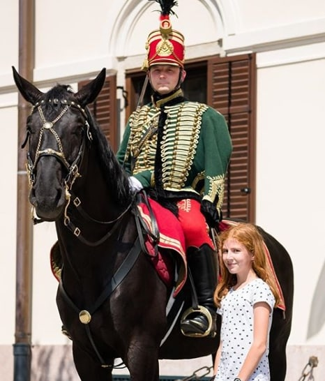 police horse budapest hungary hussar