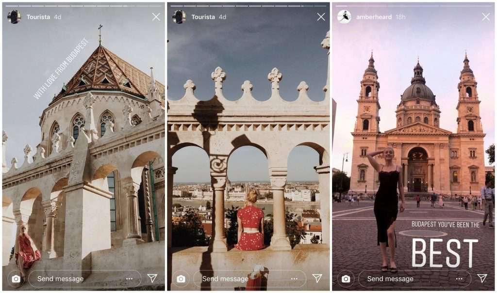 amber heard instagram budapest