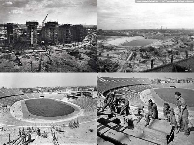 népstadion construction