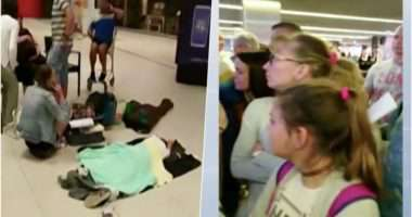 passengers stuck at airport for 33 hours