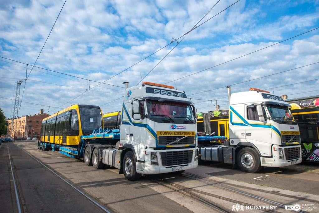 tram, new, Budapest, Hungary