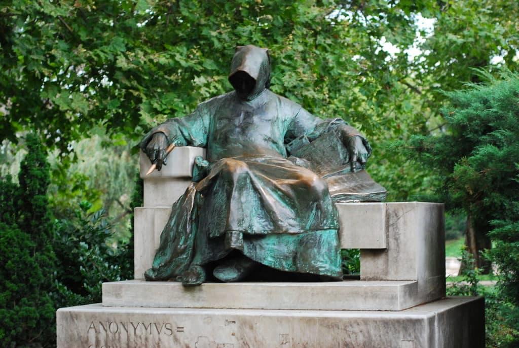 Anonymus statue, Budapest, Hungary