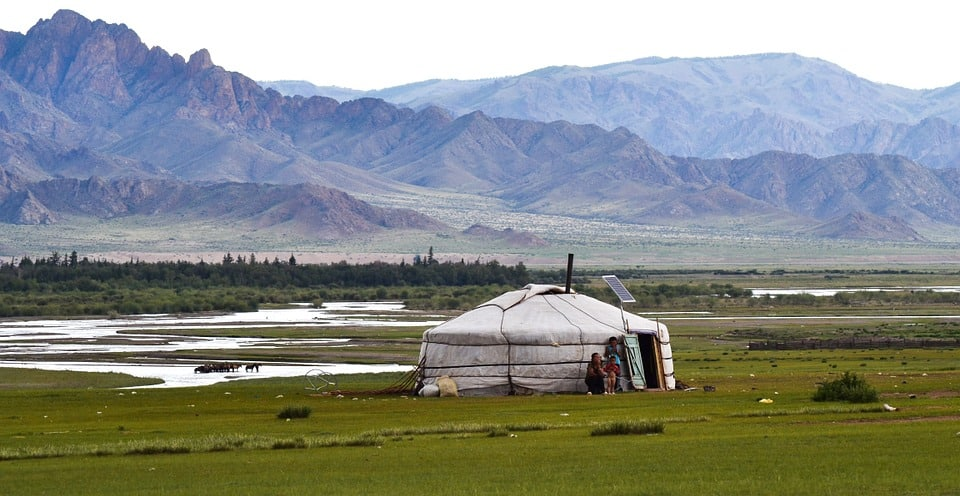 Yurt in the distance
