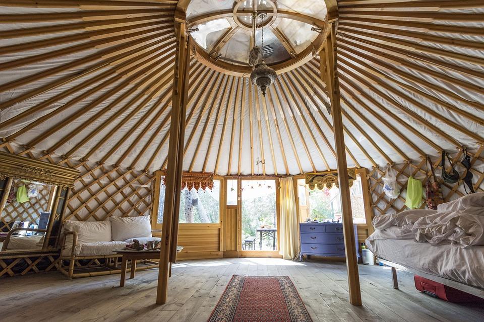 Yurt from inside