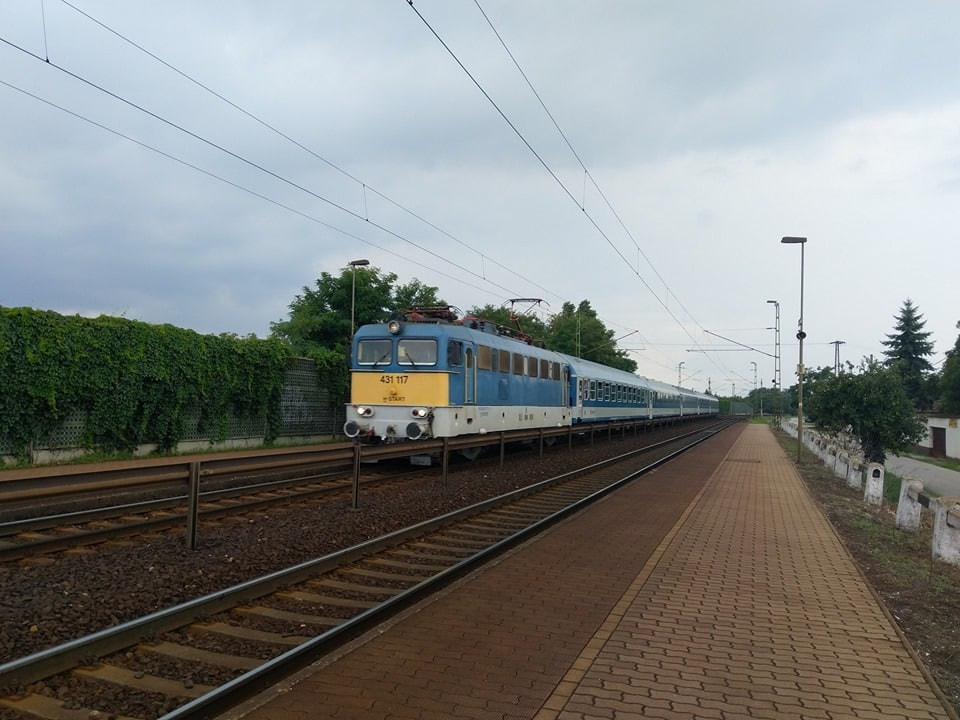 train near Budapest
