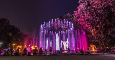 Hungary Budapest musical fountain