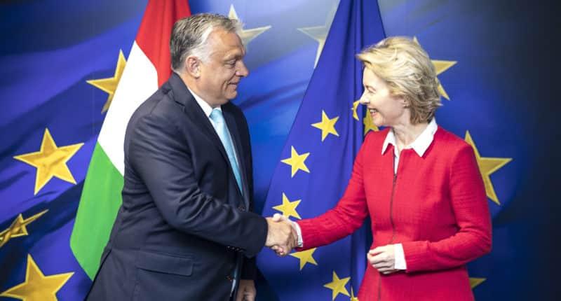 Von der Leyen meets with Orbán in Brussels
