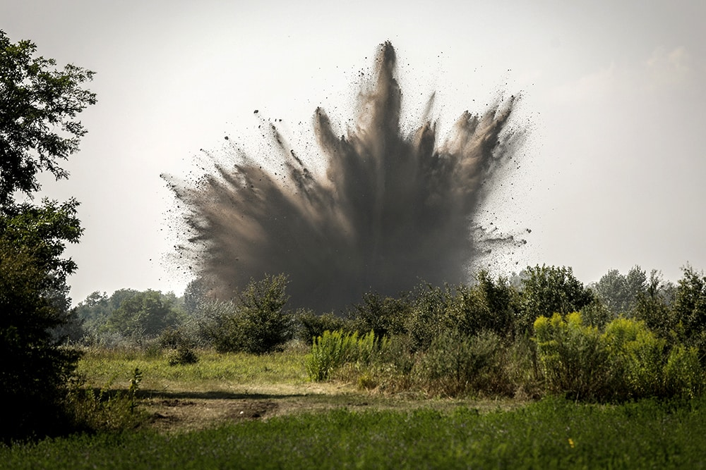Hungary WWII bomb explode