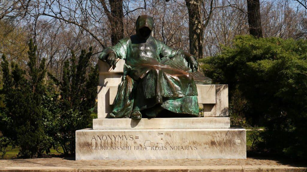 Anonymus, statue, Hungary