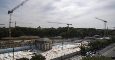 Liget Budapest construction